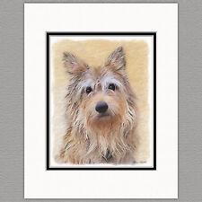 Berger Picard Dog Original Art Print 8x10 Matted to 11x14