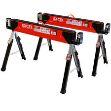 Excel Heavy Duty Steel Saw Horse Adjustable Twin Pack EX-C700/2