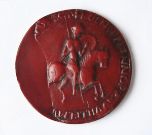 William The Conqueror Great Wax Seal Red Medieval Reproduction Collectable Gift