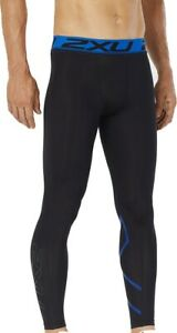 2XU Accelerate Mens Compression Tights Black Gym Sports Training Workout