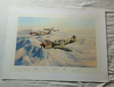 """ROBERT TAYLOR PRINT """" DESERTS HAWKS"""" 470/850. SIGNED BY 4."""