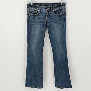 American Eagle Outfitters AEO Womens Blue Medium Wash Boyfriend Bootcut Jeans 6