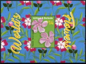 Antigua & Barbuda Flowers Stamps 2021 MNH World's Flowers Oleander Nature 1v S/S