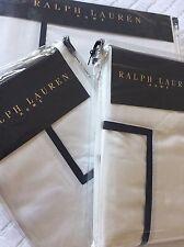 RALPH LAUREN MADISON NAVY BLANC 400TC Duvet Cover Set SUPERKING