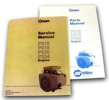 LOT MILLER BOBCAT 225 225G WELDER GENERATOR ONAN ENGINE SERVICE PARTS MANUAL