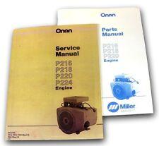 Lot Miller Bobcat 225 225g Welder Generator Onan Engine Service Parts Manual