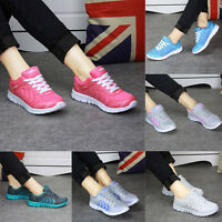 Women's Breathable Mesh Running Fitness Sneakers Boost Flat Gym Sports Shoes