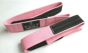 Fitness Bodybuilding/powerlifting/Strongman heavy duty lifting straps(pale pink