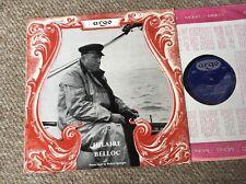 HILAIRE BELLOC SUSSEX POEMS TO DIVES UK LP ARGO MONO 1956 poetry