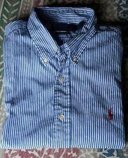 Qué gran camisa original * polo By Ralph Lauren * azul-blanco a rayas, talla 42, top!
