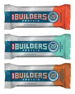 Clif Builders Bar for Protein Energy - Choose from 3 Flavours & Select Quantity