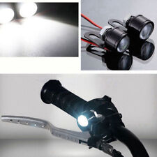 LED Motorcycle Handlebar Spotlight Headlight Driving Light Fog Lamp White 2PC