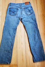 Levis 501xx Distressed Jeans Denim Button Fly Tag 33x34, actual 32x32