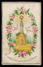 SUFFERING PASSES BUT THE GLORY WILL BE ETERNAL Antiq SMALL HOLY CARD