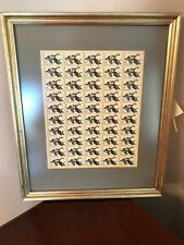 Custom Framed Block of Waterfowl Conservation Commemorative Stamps