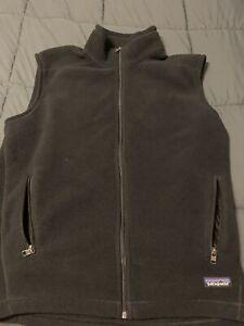 Patagonia Logo Synchilla Fleece Full Zip Sweater Vest Men's Sz L