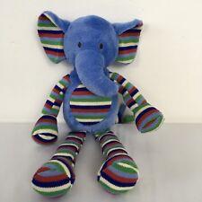 Jellycat Merry Elly Blue Stripe Rattle Elephant Baby Plush Soft Toy JELLY1850