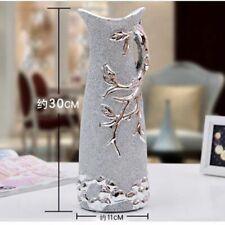 Ceramic Vase Gold Silver Vases European Home Office Decoration Desktop Art Gift