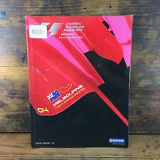 2004 MELBOURNE FORMULA 1 GRAND PRIX OFFICIAL PROGRAM F1 AUSTRALIAN FIA FWC