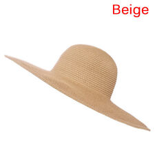 2df6ae01156 Summer Beach Hat For Women Foldable Wide Large Brim Floppy Sun Straw Hat  CapFEH