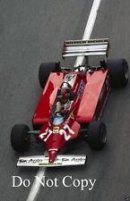 Gilles Villeneuve Ferrari 126 CK Monaco Grand Prix 1981 Photograph 4