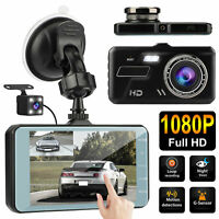 4'' 1080P Touch Car DVR Dual Lens Dash Cam Front and Rear Video Recorder Camera