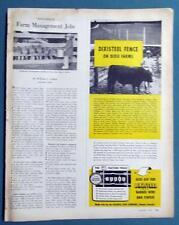 Original 1955 Farm Fence Ad Photo Endorsed by Edge Thomas of Rayle Georgia