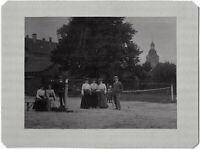Tennis, gemischtes Doppel, Original-Photo, um 1900