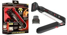 Mangroomer Ultimate Pro Shaver With 2 Shock Absorber Flex Heads - Black