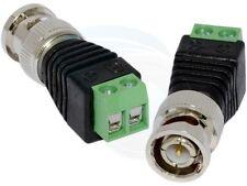 2Pcs CAT5 To CCTV Coaxial Camera BNC Male Jack Video Balun Connectors