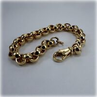 """Gents 9ct Gold Belcher Link 9"""" Bracelet"""