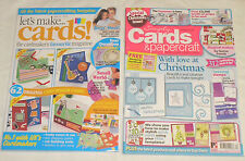 Let's Make Cards Issue 24 & Simply Cards & Papercraft Issue 63 Magazines