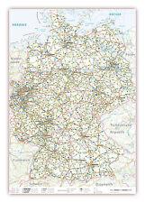 XXXL DIN B0 Deutschlandkarte Landkarte Poster Wandkarte (K704)