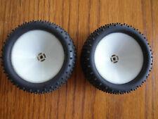 "Rc10B3 B2 Rear Tires & Wheels Bar Thread 3/16"" Axle"