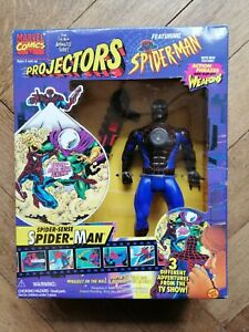 Marvel PROJECTORS : SPIDER-SENSE SPIDER-MAN, Figure & Film disks 1995 Toy Biz