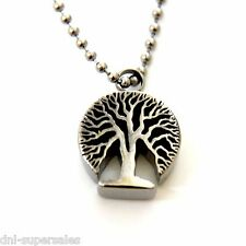 """Tree of Life"" Tree Shape Cremation Urn Pendant Necklace Stainless Ash Holder"