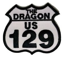 "(D36) US 129 TAIL OF THE DRAGON 3"" x 2.5"" iron on patch Biker"