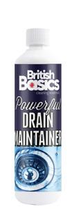 British Basics 500ml Sink Drain Maintainer Cleaner Shower Kitchen Bathroom Plug