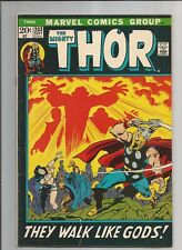 THE MIGHTY THOR #203  FN- FINE- OW/WHITE PAGES MARVEL COMICS BRONZE AGE 1972