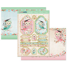 HUNKYDORY Special days AS WISE AS AN OWL Foiled Toppers 2 A4 Card SECDAY905