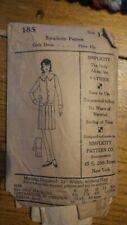 Antique SIMPLICITY PATTERN #185, Girl's Dress, Size 14