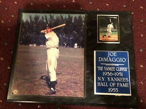 Joe DiMaggio Yankee Clipper / 1955 Hall of Fame Plaque - Excellent Condition