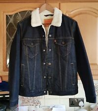 Levi's Fur Lined Trucker  jean Jacket size small padded sleeves  in VGC