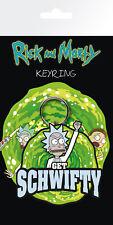 Rick & Morty Get Schwifty PVC Keyring Metal Loop Adult Swim Mr Meeseeks Pickle