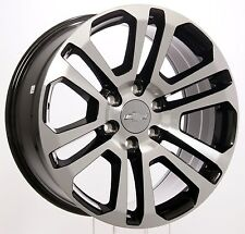 New 20 Inch Chevy Silverado Tahoe LTZ Black and Machined Split Spoke Wheels Rims