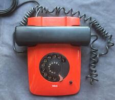 Vintage telefono fisso a disco ISKRA Eta 81 rosso Jugoslavija Davorin Savnik