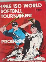 1985 ISC WORLD SOFTBALL TOURNAMENT sports program