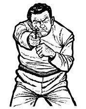 B-60 Style Pistol & Rifle Gun Police Human Shooting Target 23x29  Qty - 20 count