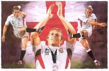 "Leon Evans "" LIONHEART "" England World Cup Rugby  Limited Edition Print"