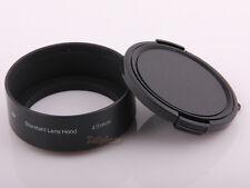 49mm Standard Metal Lens Hood for Canon Nikon Sony Pentax Olympus + Lens cap